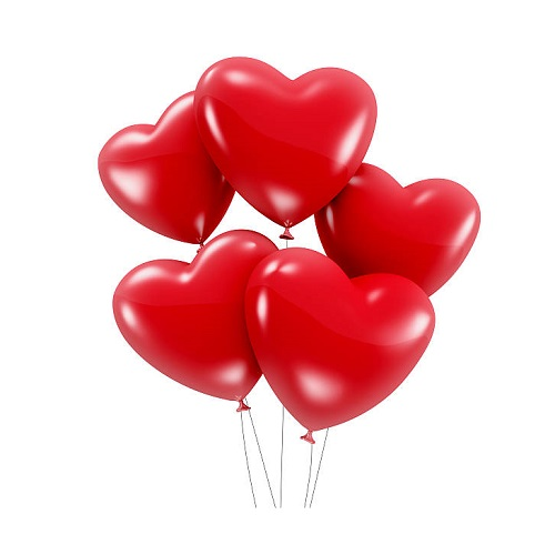 Heart shaped balloons  (from 5 tp 101 pc.)