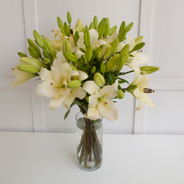 Lilies in a bouquet