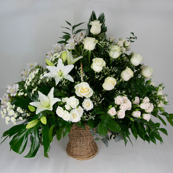 Composition with Lilies and white roses
