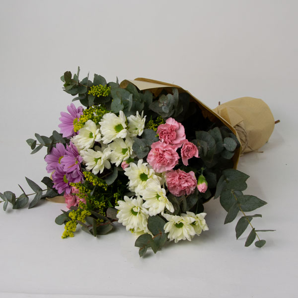 Mix bouquet of chrysanthemums